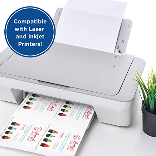 PrintWorks Heavyweight Printable Postcards for Mailings, Flashcards, and More, 67lb/147gsm, 4 Cards Per Sheet, 250 Sheets, 1000 Cards Total, White (04299) (4.25 x 5.5 Inches)