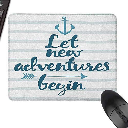 Avontuur toetsenbord muismat waterbestendige zeestrepen anker en pijl motiverende tekst zee reizen cruise