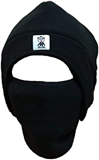 Dude Panda Men's Fleece 2-in-1 Headwear Winter Hat Face Mask Ski Mask