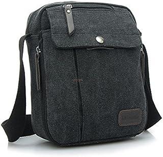 Aeoss Men and Women Leisure Small Messenger Bag Canvas Shoulder Bag Outdoor Multi-Purpose Travel Bag (Black)