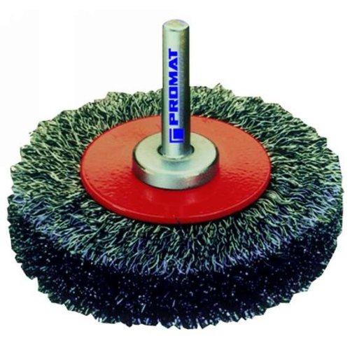 Brosse ronde avec fil d'acier ondulé diamètre : 40 mm