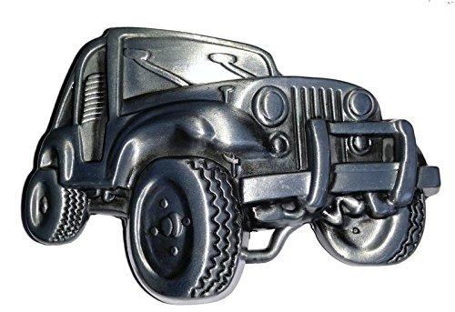 Jeep - Boucle en argent mat, TOP!