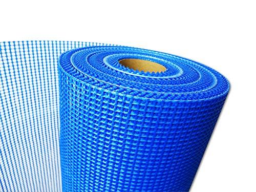 50 m² WACOLIT Armierungsgewebe 165g/m², 4 x 4mm blau, Glasseidengewebe Putzgewebe für VWS und WDVS Systeme