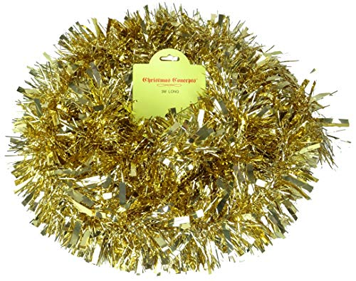 Christmas Concepts® 3m Champagner Gold Chunky/Fine Tinsel - Weihnachtsschmuck