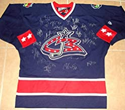 2011 Columbus Blue Jackets Team Signed Jersey (proof!) - Autographed NHL Jerseys