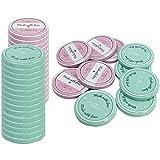 COM-FOUR® 40x tapa de repuesto para tarros de mermelada'Made with Love' - tapa roscada para tarros de dintel y tarros de cristal - HASTA 82 mm (40 piezas)