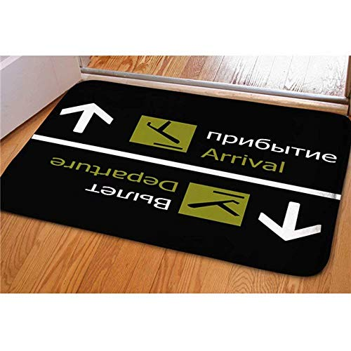 YYUTR Welcome Large Doormats Arrival Departure Pattern Indoor Outdoor Funny  Non Slip Durable Washable Home Decorative Door Mats Bath Rugs For Entrance  ...