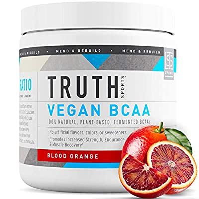 Truth Nutrition Fermented Vegan BCAA Protein Powder Supplement- 2:1:1 Improved Formula is Pure, Powerful All Natural Branched Chain Amino Acids (30 Servings)
