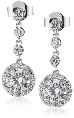 Diamonfire Damen-Ohrhänger 925 Sterling Silber Zirkonia Bridal Linie weiß 62/1463/1/082
