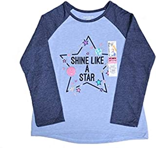 Garanimals Baby Toddler Girl Long Sleeve Shine Like A Star HI-LO Graphic RaglanTee - 2T, 3T, 4T