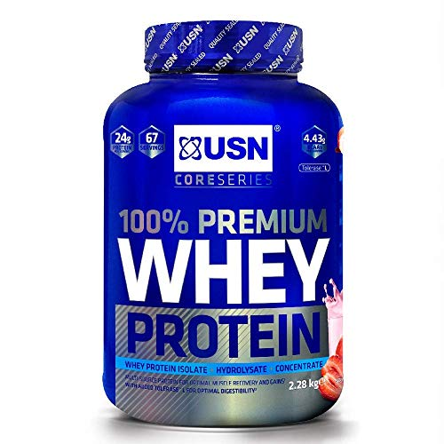 USN 100% Whey Protein Strawberry 2.28 kg: Muscle...