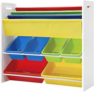 Keezi Kids Bookcase Childrens Bookshelf Toy Storage Organizer Display Rack Book