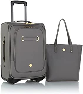 joy mangano leather luggage