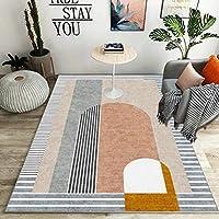 ラグ ラグマット カーペット 幾何学 ラグ 約 1畳 2畳 ホットカーペット対応 かわいい 120cm*200cm 洗える ラグ 絨毯 じゅうたん カラー1 カラフル フロアマット リビングラグ 新生活 マイクロファイバー 長方形 ラグ マット 北欧 おしゃれ ウォッシャブル