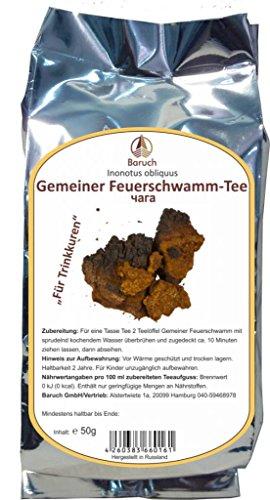 Chaga - (Gemeiner Feuerschwamm, Inonotus obliquus) - 50g