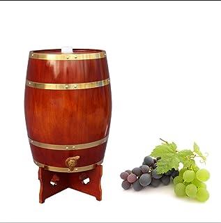 HWhome Tonneau à Vin en Fût De Chêne Vertical Seau à Whisky en chêne, 15L Vin Rouge Tonneau de chêne Peut être utilisé pou...
