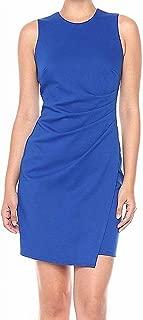 Lark & Ro Womens Dress Electric Blue US Size 8 Sheath Pleated Side Solid