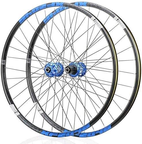 BUYAOBIAOXL Cerchi Bici Wheels Bike Ruota Posteriore 26' 27.5' 29' Mag Lega Ruote V- Freno/Freno a Disco Rim 8,9,10,11, velocità Sealed Cuscinetti del mozzo a sgancio rapido 32 Hole