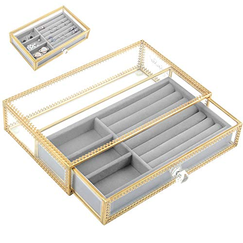 Jolicobo Caja Joyero Anillo de Boda Caja de Joyas Terciopelo Ring Box...