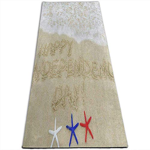 Starfish Shell Sand Yogamatte rutschfeste Übungsmatten für Yoga, Pilates, Bodenübungen, Stretch [61X180Cm]