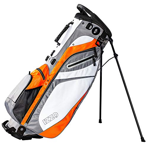 Izzo Golf Lite Stand Golf Bag - Black, Red, Green or Blue - Walking Golf Bag, Ultra Light Perfect for Carrying on The Golf Course, with Dual Straps for Easy to Carry Golf Bag.