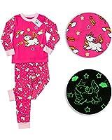 Glow in The Dark Girls Pajamas - Unicorn Pajamas for Girls - Girls Pajamas - Pajamas for Girls - Girls PJs - Unicorn Gifts