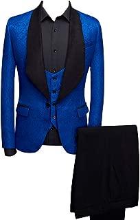 Btaidi Shawl Lapel Man Suit Groom Wedding Men's Blazer Groomsmen Suits 3 Pieces Jacket Vest Pants Tie