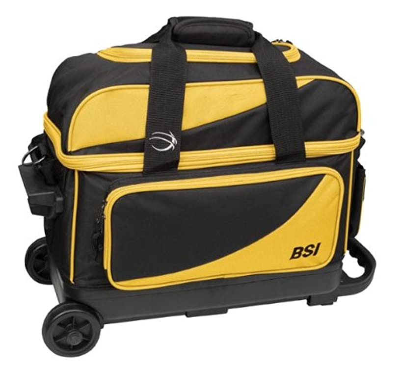 BSI Double Ball Roller Bag, Black/Yellow