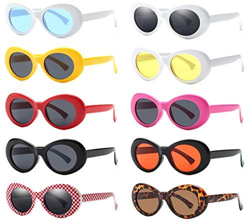 Retro Oval Mod Thick Frame Clout Goggles Kurt Cobain Sunglasses