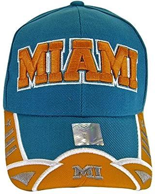 Miami Men's Small Star & Dashes 2-Tone Adjustable Baseball Cap