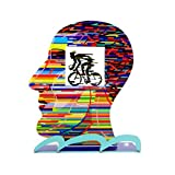David Gerstein Head Cyclist Contemporary Bike Rider Metal Art Unique Art Gift