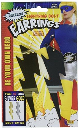 FORUM Pendientes Colgantes con Perno de superhéroe para Mujer, Accesorio para Disfraz