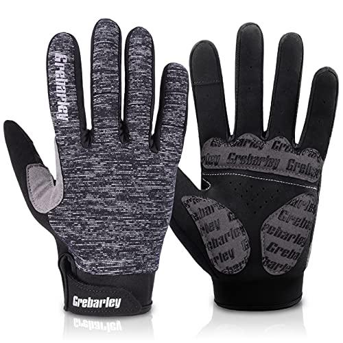 Grebarley Fahrradhandschuhe MTB Handschuhe Mountainbike Handschuhe mit Touchscreen Finger fürs Radsport Road Race Downhill Wandern fahrradhandschuhe Männer und Frauen