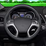 Coperchio del volante per auto a mano nero, per Hyundai IX35 Tucson 2 20112015 Accessori per auto Styling