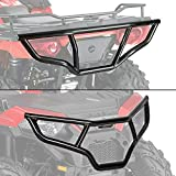 ECOTRIC Front/Rear/Front & Rear Brush Guard Bumper 2Pcs Fit for 2014-2019 Polaris Sportsman 450 570 Black Steel Bumper Protector (Front and Rear, You May Receive 2 Packages)