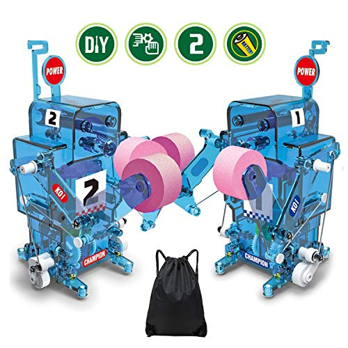 Refial Robot Toy, Boxing Robot Kit Learning Educational Toy for Kids, DIY Assemble Electric Remote Control Robot Building Kit, Best Gift for Kid Stem Education