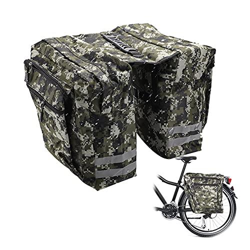 Yuragim Borsa per Bicicletta Multifunzionale, Borse Bici Posteriore Laterali, Grande Capacità Doppia Borsa per Portapacchi, Borsa Posteriore Bici Impermeabile, Borsa per Baule Portapacchi per Bici