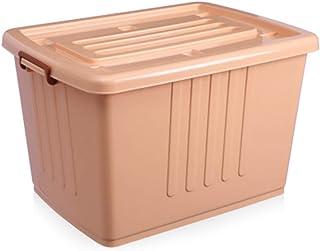 PPCP Storage Box Plastic Blue Stackable Locker Clothing Storage Box Artifact (Color : Orange)