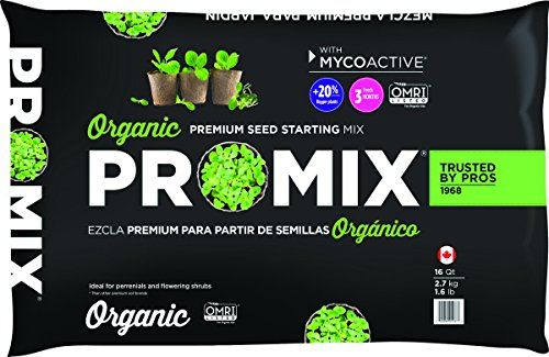 Premier Horticulture 1016041RGCE Organic Pro Seed Starting Mix, 16 Quart