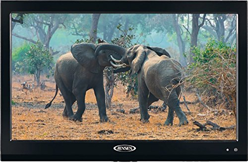 Jensen JTV19DC HD Ready 19 Inch 12V DC RV LED TV with Integrated HDTV (ATSC) Tuner, HD Ready (1080p, 720p, 480p), 1366 x 768 Full HD, Dual Function Wireless Remote Control, Black