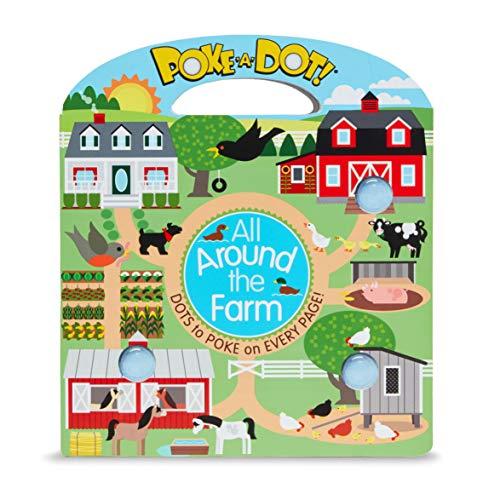 Melissa & Doug Children's Book – Poke-a-Dot: All Around Sunny Farm