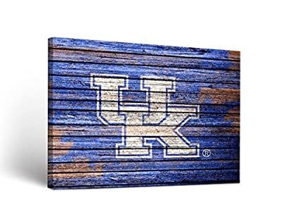 Victory Tailgate Kentucky Uk Wildcats Canvas Wall Art Weathered Design