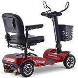 Silla de ruedas de ayuda a la movilidad Scooters eléctricos, scooters for los ancianos, discapacitados, portátil y plegable, de gran tamaño de la batería de litio 20AH, en las cuatro ruedas scooters e