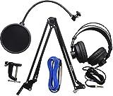 PreSonus Broadcast-Zubehörpaket mit Mikrofonausleger, Pop-Filter, Kopfhörern und Kabel für...