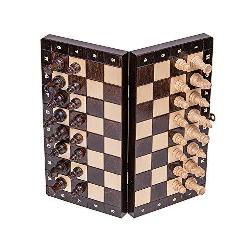 Square - Ajedrez de Madera - MAGNÉTICO Classic - Tablero de ajedrez - 26,5 cm