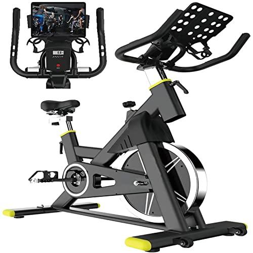 Bici da Cycling da Cyclette per Cyclette [2021] Bici di Rotazione Bici Fermi con Comodo Sedile Cuscino e Telefono Cuscinetto per la Bicicletta per la Bicicletta per la Palestra Domestica Cardio