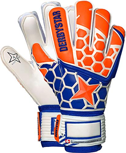 Derbystar Kinder Protect Columba III Handschuhe, orange Navy weiß, 6