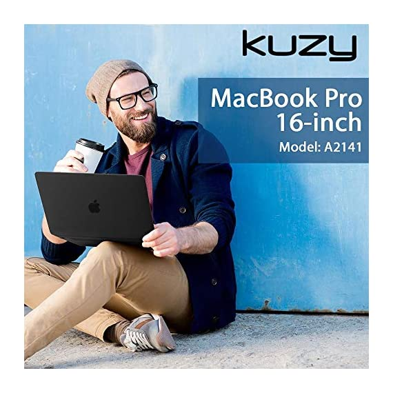 Kuzy Compatible with MacBook Pro 16 inch Case 2019 Release A2141 Plastic Hard Shell Cover for MacBook Pro Case 16 inch… 2 Compatible with MacBook Pro 16 inch Case Designed to Fits Perfectly MacBook Pro 16 inch Models A2141 with Touch Bar Touch ID Release in 2019. Your MacBook Pro will Looks Great in Kuzy Case. No cut out design Logo Shine through the Hard Cover Easy To Install and Fully Vented for safe heat disbursement Hardshell Case with Silky-Smooth Soft-Touch, Smooth yet grippy exterior texture Totally Removable. Protects your MacBook 16 inch from scrapes and scratches. Best 16 inch MacBook Pro Case Features with No cut out design, Apple Logo Shine through the case. Ultra Slick Design Lets you Open and Close your MacBook Pro 16 inch all the way and Access to all USB-C and AUX ports, Cover Weight 13oz. Lightweight and Sturdy