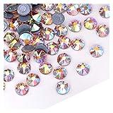QQINGHAN 144PCS Top Colorido Cristal HOTFIX Rhinestone 16 Cut Cut FACETS Hierro en la fijación Caliente Rhinestones DIY Vestido de Novia (Color : 4, Size : SS20 144PCS)