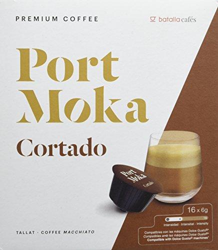 Port Moka Cápsulas de Café Cortado Compatibles Sistema Dolce Gusto - 4...